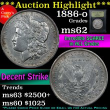 1886-o Morgan Dollar $1 Graded Select Unc By USCG