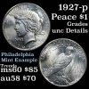 1927-p Peace Dollar $1 Grades Unc Details