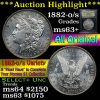 ***Auction Highlight*** 1882-o/s Morgan Dollar $1 Graded Select+ Unc by USCG (fc)