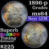 1896-p Morgan Dollar $1 Grades Choice Unc