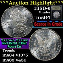 1880-o Morgan Dollar $1 Graded Choice Unc By USCG