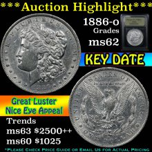 1886-o Morgan Dollar $1 Graded Select Unc By USCG