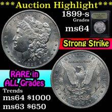 1899-s Morgan Dollar $1 Graded Choice Unc By USCG
