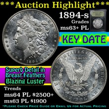 1894-s Morgan Dollar $1 Graded Select Unc+ PL