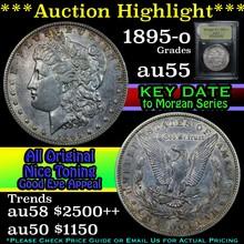 1895-o Morgan Dollar $1 Graded Choice AU by USCG