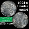 1921-s Morgan Dollar $1 Grades Choice Unc