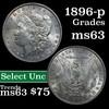 1896-p Morgan Dollar $1 Grades Select Unc