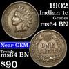 1902 Indian Cent 1c Grades Choice Unc BN