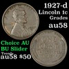 1927-d Lincoln Cent 1c Grades Choice AU/BU Slider