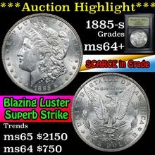 1885-s Morgan Dollar $1 Graded Choice+ Unc By USCG