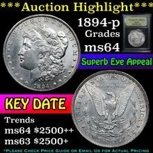 1894-p Morgan Dollar $1 Graded Choice Unc
