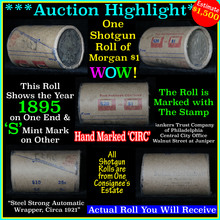 Auction Highlight* Morgan dollar roll ends 1895 &
