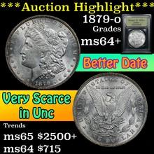 1879-o Morgan Dollar $1 Graded Choice+ Unc By USCG