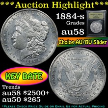 1884-s Morgan Dollar $1 Graded Choice AU/BU Slider
