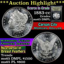 1883-cc Morgan Dollar $1 Graded GEM Unc DMPL USCG
