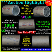 Auction Highlight Morgan dollar roll ends 1889 &