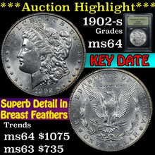 1902-s Morgan Dollar $1 Graded Choice Unc By USCG