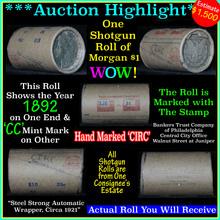 Auction Highlight Morgan dollar roll ends 1892 &