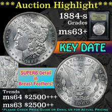 1884-s Morgan Dollar $1 Graded Select+ Unc By USCG