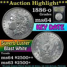 1886-o Morgan Dollar $1 Graded Choice Unc By USCG