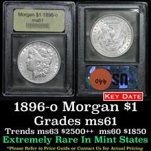 1896-o Morgan Dollar $1 Graded BU+ by USCG (fc)