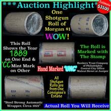 Incredible Find, Unc Morgan $1 Shotgun Roll w/1889