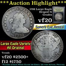 1798 Large Eagle Draped Bust Half Dollar 50c