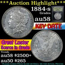 1884-s Morgan Dollar $1 Graded Choice AU/BU