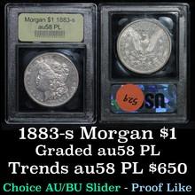 1883-s Morgan Dollar $1 Graded Choice AU/BU Slider