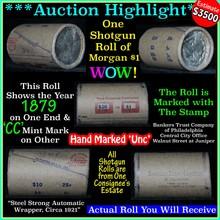Incredible Find, Unc Morgan $1 Shotgun Roll w/1879