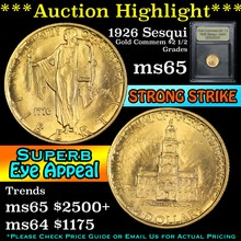 1926 Sesqui Gold Commemorative $2 1/2 Graded GEM