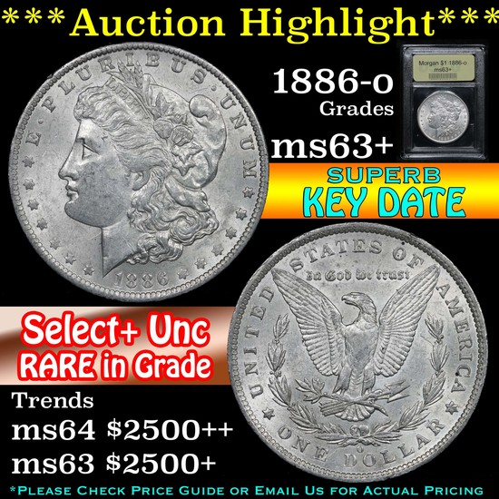 ***Auction Highlight*** 1886-o Morgan Dollar $1 Graded Select+ Unc By USCG (fc)