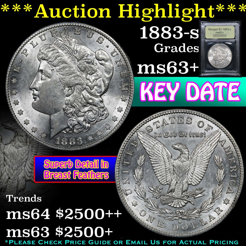 ***Auction Highlight*** 1883-s Morgan Dollar $1 Graded Select+ Unc By USCG (fc)