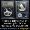***Auction Highlight*** 1984-s Olympics Modern Commem $1 Graded GEM++ Proof DCAM By USCG (fc)