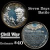 Seven Days Battle Limited Edition Lincoln Mint silver .825 oz. .999 fine silver