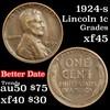 1924-s Lincoln Cent 1c Grades xf+