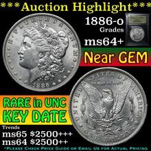 1886-o Morgan Dollar $1 Graded Choice+ Unc by USCG
