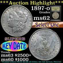 1897-o Morgan Dollar $1 Graded Select Unc By USCG