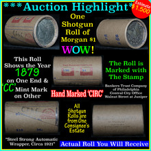 *Auction Highlight Morgan dollar roll ends 1879 &