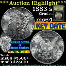 1883-s Morgan Dollar $1 Graded Choice Unc By USCG