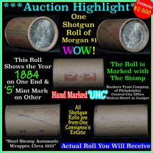 Uncirculated Morgan $1 Shotgun Roll w/1884