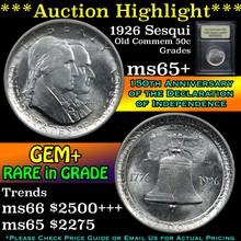 1926 Sesqui Old Commem Half Dollar 50c Graded GEM+