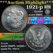 1921-p Morgan Dollar $1 Graded Choice Unc DMPLUSCG