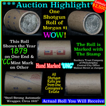 Uncirculated Morgan $1 Shotgun Roll w/1879 & cc