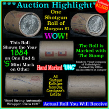 Uncirculated Morgan $1 Shotgun Roll w/1884 &