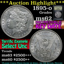 1895-o Morgan Dollar $1 Graded Select Unc By USCG