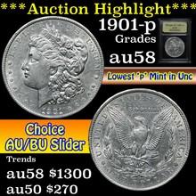 1901-p Morgan Dollar $1 Graded Choice AU/BU Slider
