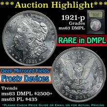 1921-p Morgan Dollar $1 Graded Select Unc DMPL