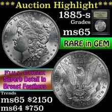 1885-s Morgan Dollar $1 Graded GEM Unc By USCG (fc