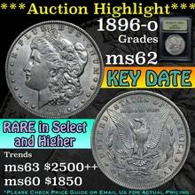 1896-o Morgan Dollar $1 Graded Select Unc By USCG